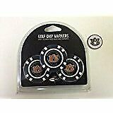 Auburn Tigers 3- PACK POKER CHIPS, with markers, BONUS EXTRA MARKER FREE