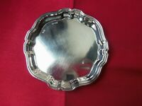 ENGLISH HALLMARKED DRESSING TABLE SOLID SILVER PIN or CARD TRAY,BIRMINGHAM 1971