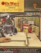 Tool Catalog - De Walt - Power Shop - Saws et al - c1956 (TL15)