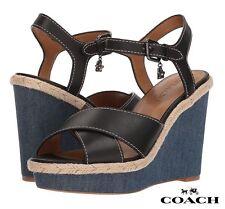 COACH Eaton Sandals Women's Wedges Platform Shoes Casual Heels Size 8.5 NIB