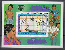 Tschad Block 76 Internationales Jahr des Kindes gestempelt