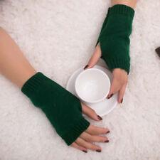 Women Girl Knitted Arm Fingerless Warm Winter Gloves Soft Winter Warm Mittens
