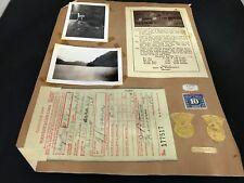 VINTAGE PHOTOGRAPH CAMERON LAKE VANCOUVER CANADA STAMP 1938 SHELL GAS RECEIPTS