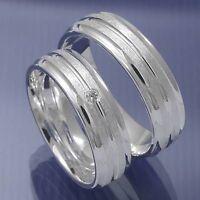 1 Paar Trauringe Freundschaftsringe Verlobungsringe Eheringe 925 Silber P4088444