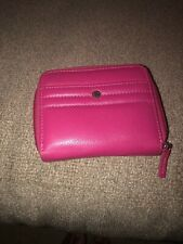 genuine leather wallet women Pink