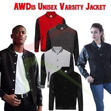 AWDis Letterman Jacket Unisex Mens Casual Varsity Baseball College American TOP