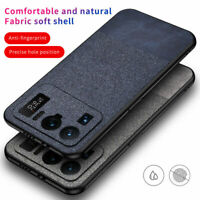 For Xiaomi Mi 11 Ultra Shockproof Fabric Cloth TPU Hybrid Slim Phone Case Cover