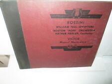 ROSSINI - WILLIAM TELL OVERTURE - ARTHUR FIEDLER rare Antique 78 Record Set Nm