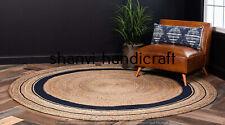 Indian Handmade Braided Natural Jute Rug Home Decor Floor 4 Feet Area Rug Carpet