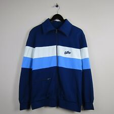 80s Odlo L Norway Navy/White Front Pocket Long Sleeve High Collar Zip Ski Jacket