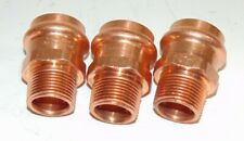 "(Lot of 3) 1"" ProPress x 3/4"" Male Copper Adapter - Press Copper Fittings"