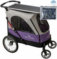 PETSTRO Stroller SILVER WING & Tisch / Regenschutz 703GX - CL Lila Grau