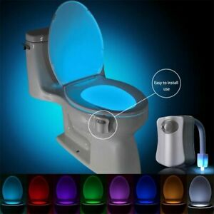 LED Toilet Bathroom Night Light PIR Motion Activated Seat Sensor 8 Colours