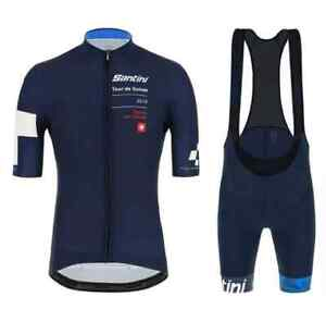 SMS TOUR DE SUISSE SANTINI TEAM Men Cycling Jersey with Bib Short Set