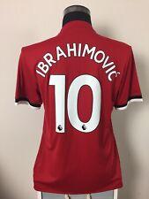 IBRAHIMOVIC #10 BNWT Manchester United Home Football Shirt Jersey 2017/18 (M)