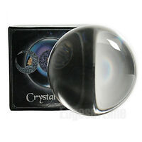 11CM LARGE CRYSTAL BALL ORB HEALING CLEAR WICCA PAGAN MAGIC HALLOWEEN