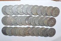 MEXICO lot UN PESO vintage world C foreign Mexican one large 33 COINS