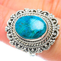 Chrysocolla 925 Sterling Silver Ring Size 7 Ana Co Jewelry R56411F