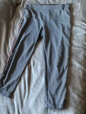 Ladies Black And White Dogtooth Tapered Stretch Trousers. Size 18, Worn Once!