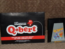 VINTAGE ATRI & SEARS VIDEO COMPUTOR SYSTEM GAME QBERT OR Q-BERT & MANUAL WORKING