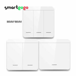 433Mhz Smart Light Switch LED Wall Panel Switch Wireless Remote Control BSG