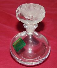 Waterford Crystal Flower Stopper Round Perfume Bottle UNUSED Label