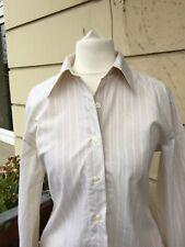 BENETTON Bluse beige/weiß Streifen klassisch lange Ärmel Größe XS neuwertig