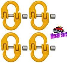 "Qty. 4 - 3/8"" Grade 80 Coupling Link, Hammerlock, Hammer Lock Chain Connector"
