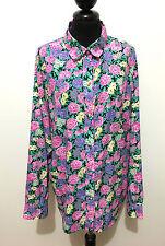LUISA SPAGNOLI VINTAGE '80 T-Shirt Femme Chemisier Flower Chemise Sz XXXL - 52