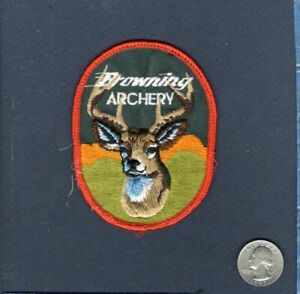 BROWNING ARCHERY Compound Hunting Bow Embroidered Patch