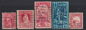 NEW ZEALAND SELECTION OF FIVE HEALTH STAMPS INCLUDING A BLUE SMILING BOY USED