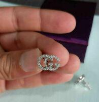 1.50Ct Round  VVS1 Diamond Screw Back G Womens Stud Earrings 14K White Gold Over