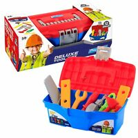 Playskape 12 Pieces Kids Deluxe Handy Tool Box Play Toy DIY Creative Role Play