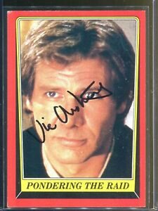 Vic Armstrong Han Solo Harrison Ford Signed 1983 Topps Star Wars Card Autograph
