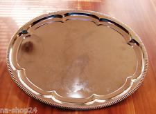 Buffetplatte Servierplatte Partyplatte OVAL Metall verchromt buffet Tablet 45x35