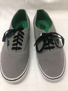 Vans Authentic Gray Shoes Unisex M 10.5/W 12 US
