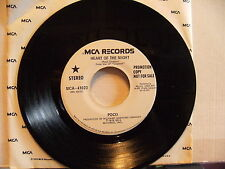 POCO Heart of the Night WHITE LABEL PROMO Unplayed 45