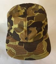 Men's Size Medium Camo Cap Hat Ear Flap Hunting Field Made in USA Military VGC