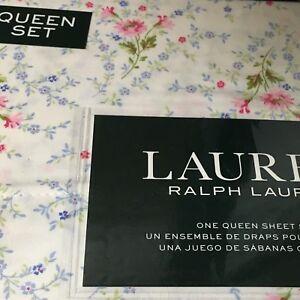 Ralph Lauren Spring Bouquet QUEEN XD 4p Sheet Set Pink Cottage Floral NIP Free📦