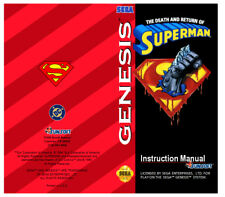 Color Custom Manual DEATH SUPERMAN SEGA Mega Drive USA Version - AAA+++