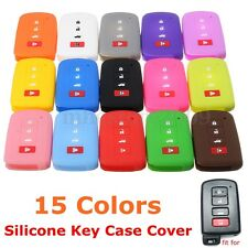 4 Button Silicone Smart Remote Key Case Fob Cover For Toyota Camry RAV4 Avalon