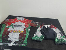 MT BORAH CYCLING FULL ZIP JERSEY AND BIB SHORTS MTN BIKE CYCLING GEAR SZ MEDIUM