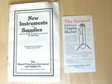 1920'S DETROIT VETERINARY INSTRUMENT SUPPLY CATALOG 90 DAYS REDUCED PRICES