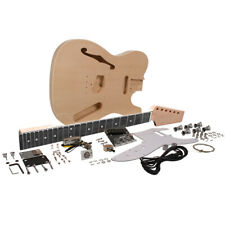 DIY Traditional Semi-Hollow Electric Guitar Kit - Unfinished Luthier Project Kit