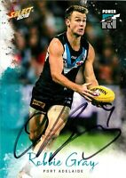 ✺Signed✺ 2018 PORT ADELAIDE POWER AFL Card ROBBIE GRAY