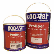 Coo-Var Pro Floor Paint | Black | 2 Pack | Water Based | 5Kg