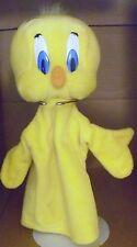 "12"" tweety bird puppet looney tunes applause 1994 plush stuffed animal"
