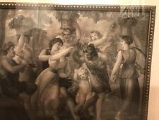 antique engraving Dancing Cherubs