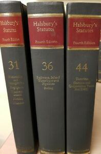 Halsburys statutes set Law Book -Complete most updated  to later issues  Lot V