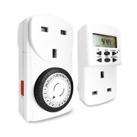 Extrastar Digital/Mechanical Timer UK Mains Wall Plug In Socket Switch Home
